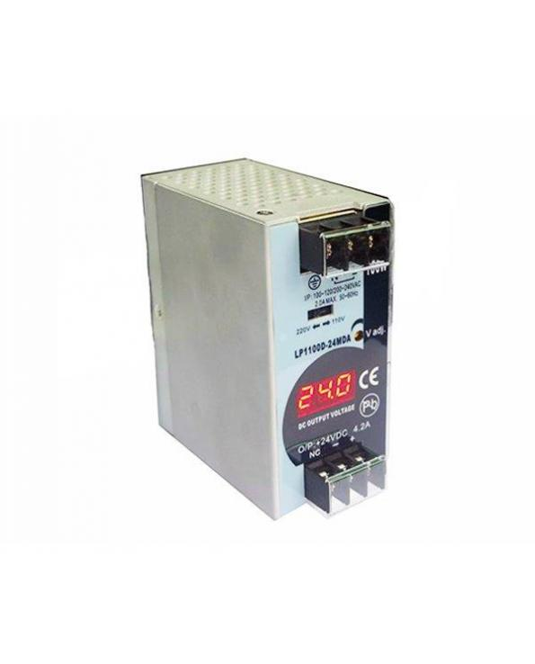LP1100D, Power Supply, Input 90-132 or 180-264VAC selectable, Output 12VDC, LED Display, Power & Current 8.3A, 100W