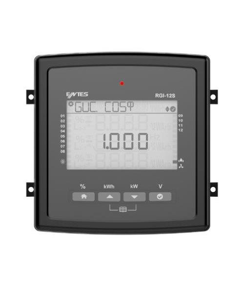 RGI-12S, Power Factor Controller, 12 Steps, Fan control output, 144x144 mm, LCD, RS485